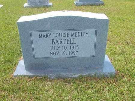 BARFELL, MARY LOUISE - Calhoun County, Arkansas   MARY LOUISE BARFELL - Arkansas Gravestone Photos
