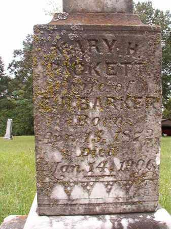 PICKETT BARKER, MARY H - Calhoun County, Arkansas | MARY H PICKETT BARKER - Arkansas Gravestone Photos