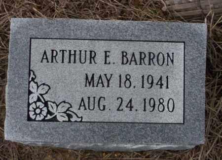 BARRON, ARTHUR E - Calhoun County, Arkansas   ARTHUR E BARRON - Arkansas Gravestone Photos