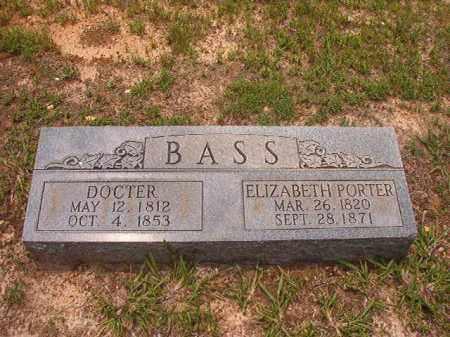 PORTER BASS, ELIZABETH - Calhoun County, Arkansas | ELIZABETH PORTER BASS - Arkansas Gravestone Photos