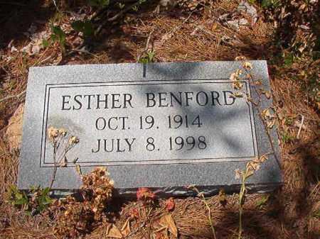 BENFORD, ESTHER - Calhoun County, Arkansas | ESTHER BENFORD - Arkansas Gravestone Photos