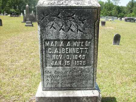 BENNETT, MARIA A - Calhoun County, Arkansas   MARIA A BENNETT - Arkansas Gravestone Photos