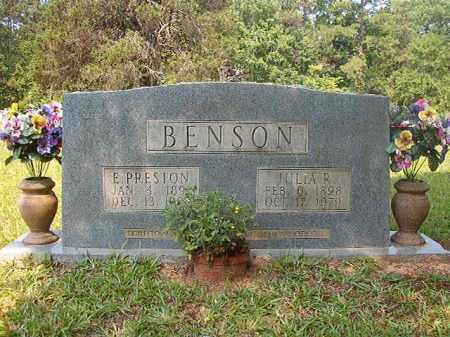 BENSON, E PRESTON - Calhoun County, Arkansas | E PRESTON BENSON - Arkansas Gravestone Photos