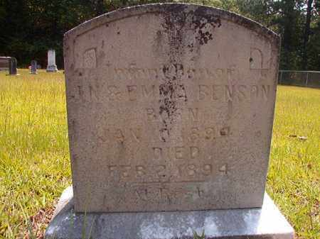 BENSON, INFANT DAUGHTER - Calhoun County, Arkansas | INFANT DAUGHTER BENSON - Arkansas Gravestone Photos