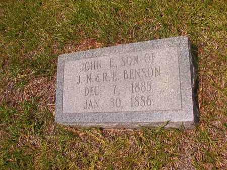 BENSON, JOHN E - Calhoun County, Arkansas | JOHN E BENSON - Arkansas Gravestone Photos