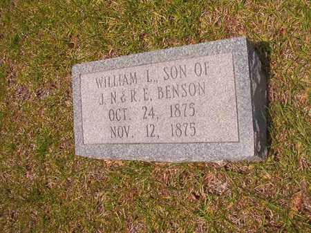 BENSON, WILLIAM L - Calhoun County, Arkansas   WILLIAM L BENSON - Arkansas Gravestone Photos