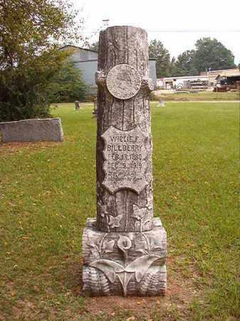 BILLBERRY, WILLIE F - Calhoun County, Arkansas   WILLIE F BILLBERRY - Arkansas Gravestone Photos