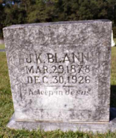 BLANN, J K - Calhoun County, Arkansas | J K BLANN - Arkansas Gravestone Photos