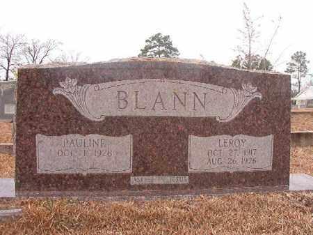 BLANN, LEROY - Calhoun County, Arkansas | LEROY BLANN - Arkansas Gravestone Photos