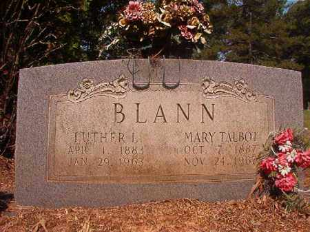BLANN, LUTHER L - Calhoun County, Arkansas | LUTHER L BLANN - Arkansas Gravestone Photos