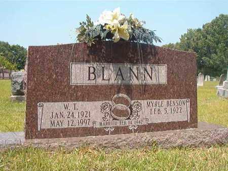 BLANN, W T - Calhoun County, Arkansas   W T BLANN - Arkansas Gravestone Photos