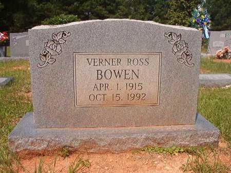 BOWEN, VERNER ROSS - Calhoun County, Arkansas | VERNER ROSS BOWEN - Arkansas Gravestone Photos