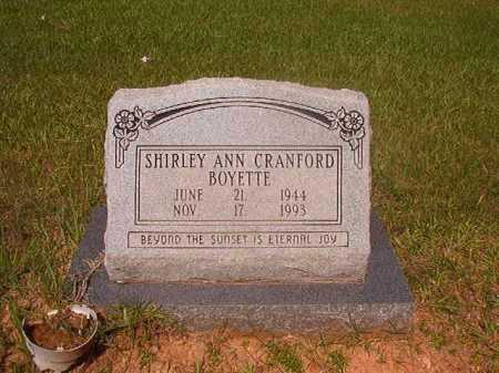 BOYETTE, SHIRLEY ANN - Calhoun County, Arkansas | SHIRLEY ANN BOYETTE - Arkansas Gravestone Photos