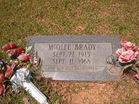 BRADY, MCOLEE - Calhoun County, Arkansas   MCOLEE BRADY - Arkansas Gravestone Photos