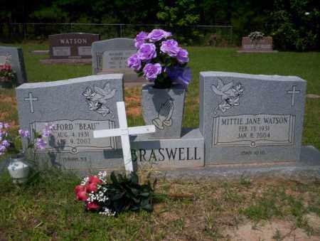 BRASWELL, WILFORD BEAU - Calhoun County, Arkansas | WILFORD BEAU BRASWELL - Arkansas Gravestone Photos