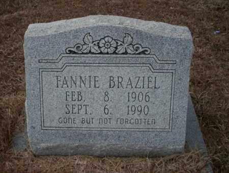 BRAZIEL, FANNIE - Calhoun County, Arkansas | FANNIE BRAZIEL - Arkansas Gravestone Photos
