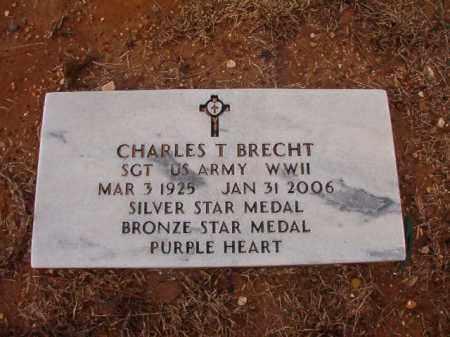 BRECHT (VETERAN WWII), CHARLES T - Calhoun County, Arkansas | CHARLES T BRECHT (VETERAN WWII) - Arkansas Gravestone Photos