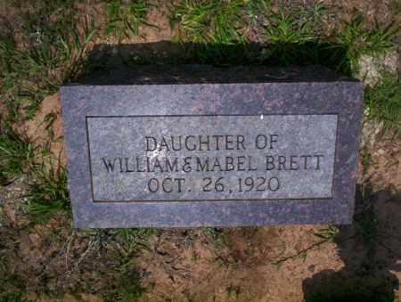 BRETT, DAUGHTER - Calhoun County, Arkansas   DAUGHTER BRETT - Arkansas Gravestone Photos