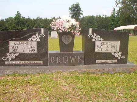BROWN, MARVINE J - Calhoun County, Arkansas | MARVINE J BROWN - Arkansas Gravestone Photos