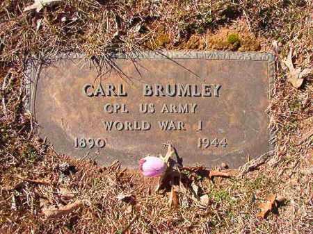 BRUMLEY (VETERAN WWI), CARL - Calhoun County, Arkansas | CARL BRUMLEY (VETERAN WWI) - Arkansas Gravestone Photos