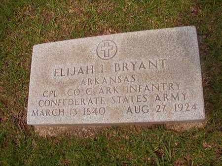 BRYANT (VETERAN CSA), ELIJAH L - Calhoun County, Arkansas | ELIJAH L BRYANT (VETERAN CSA) - Arkansas Gravestone Photos