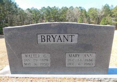 BRYANT, WALTER G - Calhoun County, Arkansas | WALTER G BRYANT - Arkansas Gravestone Photos