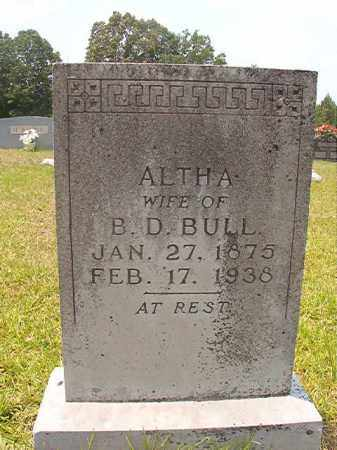 BULL, ALTHA - Calhoun County, Arkansas | ALTHA BULL - Arkansas Gravestone Photos