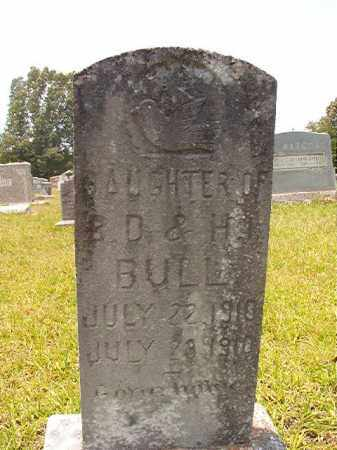 BULL, INFANT DAUGHTER - Calhoun County, Arkansas   INFANT DAUGHTER BULL - Arkansas Gravestone Photos