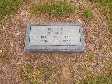 BURGETT, DICKIE J - Calhoun County, Arkansas   DICKIE J BURGETT - Arkansas Gravestone Photos