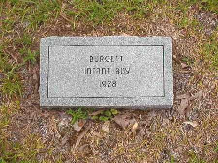 BURGETT, INFANT BOY - Calhoun County, Arkansas | INFANT BOY BURGETT - Arkansas Gravestone Photos