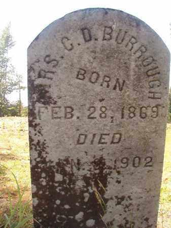 BURROUGHS, MRS, C D - Calhoun County, Arkansas | C D BURROUGHS, MRS - Arkansas Gravestone Photos