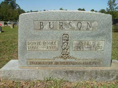 BURSON, ANDREW J - Calhoun County, Arkansas | ANDREW J BURSON - Arkansas Gravestone Photos