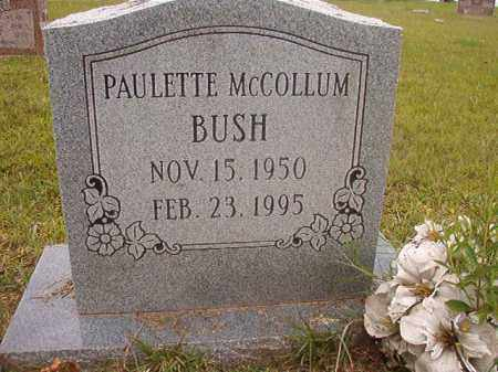 MCCOLLUM BUSH, PAULETTE - Calhoun County, Arkansas | PAULETTE MCCOLLUM BUSH - Arkansas Gravestone Photos