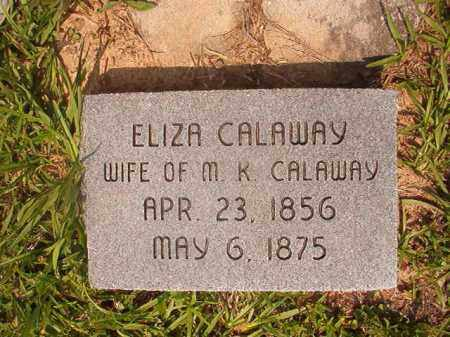 CALAWAY, ELIZA LOUISE - Calhoun County, Arkansas   ELIZA LOUISE CALAWAY - Arkansas Gravestone Photos