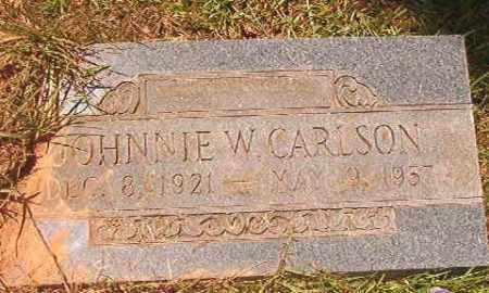 CARLSON, JOHNNIE W - Calhoun County, Arkansas | JOHNNIE W CARLSON - Arkansas Gravestone Photos