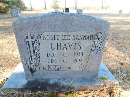"CHAVIS, NOBLE LEE 'HANNAH"" - Calhoun County, Arkansas 