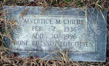 CHILDS, ALVERTICE M - Calhoun County, Arkansas | ALVERTICE M CHILDS - Arkansas Gravestone Photos