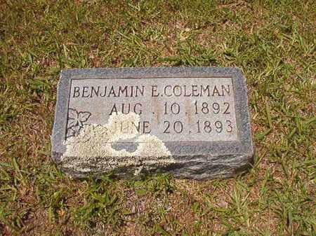 COLEMAN, BENJAMIN E - Calhoun County, Arkansas | BENJAMIN E COLEMAN - Arkansas Gravestone Photos