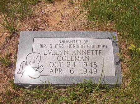 COLEMAN, EVELYN ANNETTE - Calhoun County, Arkansas | EVELYN ANNETTE COLEMAN - Arkansas Gravestone Photos