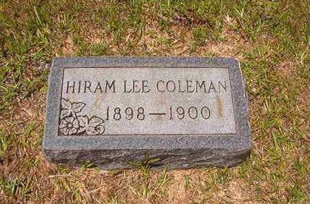 COLEMAN, HIRAM LEE - Calhoun County, Arkansas | HIRAM LEE COLEMAN - Arkansas Gravestone Photos