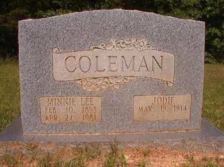 COLEMAN, MINNIE LEE - Calhoun County, Arkansas   MINNIE LEE COLEMAN - Arkansas Gravestone Photos