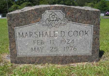 COOK, MARSHALL D - Calhoun County, Arkansas | MARSHALL D COOK - Arkansas Gravestone Photos