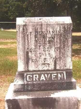 CRAVEN, BENJAMIN - Calhoun County, Arkansas | BENJAMIN CRAVEN - Arkansas Gravestone Photos