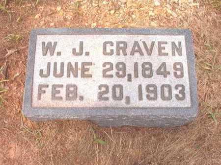 CRAVEN, W J - Calhoun County, Arkansas | W J CRAVEN - Arkansas Gravestone Photos