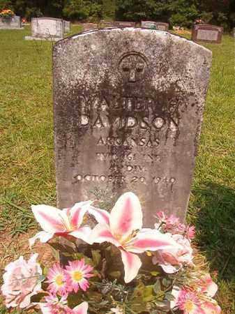 DAVIDSON (VETERAN), WALTER H - Calhoun County, Arkansas | WALTER H DAVIDSON (VETERAN) - Arkansas Gravestone Photos