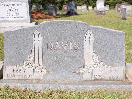 DAVIS, EBB P - Calhoun County, Arkansas | EBB P DAVIS - Arkansas Gravestone Photos