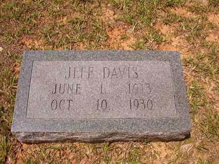 DAVIS, JEFF - Calhoun County, Arkansas   JEFF DAVIS - Arkansas Gravestone Photos