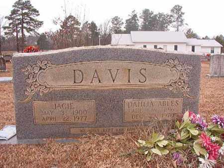 ABLES DAVIS, DAHLIA - Calhoun County, Arkansas   DAHLIA ABLES DAVIS - Arkansas Gravestone Photos