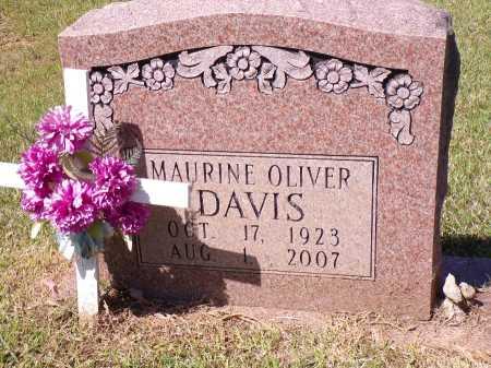OLIVER DAVIS, MURINE - Calhoun County, Arkansas   MURINE OLIVER DAVIS - Arkansas Gravestone Photos