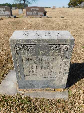 CLAY DAVIS, MAGGIE - Calhoun County, Arkansas | MAGGIE CLAY DAVIS - Arkansas Gravestone Photos